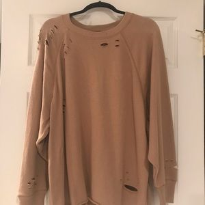 Aerie distressed sweatshirt
